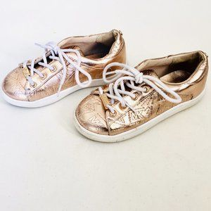 Michael Kors Shiny Rose Gold Sneakers